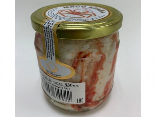 Мясо краба натуральное ст/б 430г. Высший сорт.