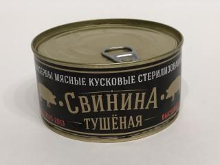 Свинина тушеная ГОСТ в/с ж/б 325г.